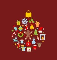 Abstract Christmas Ball vector image vector image
