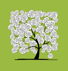 abstract tree for your design vector image