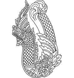 Asian dragon vector