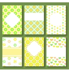 Baby Shower Card Templates vector image vector image
