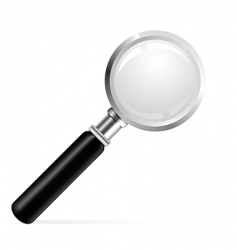 beautiful illustration of a magnifier vector image