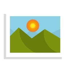 Beautiful landscape in a picture isolated icon vector
