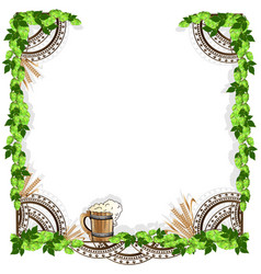 beer frame with vintage elements vector image