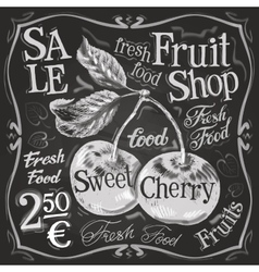 Cherry ripe logo design template fresh vector