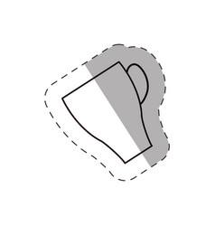 Coffee cup beverage hot line vector