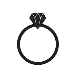 diamond ring on white background diamond ring vector image vector image