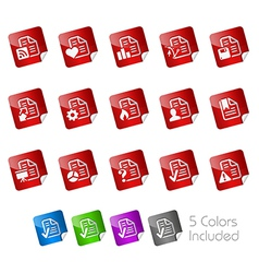 Documents Stickers vector image