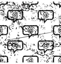 E-mail message pattern grunge monochrome vector