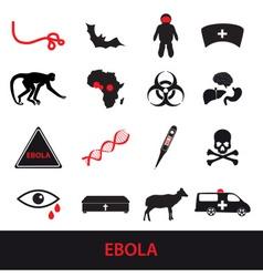 ebola disease icons set eps10 vector image vector image