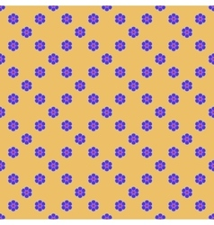Flowers geometric seamless pattern 2807 vector image vector image