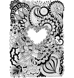 flowers heart vector image