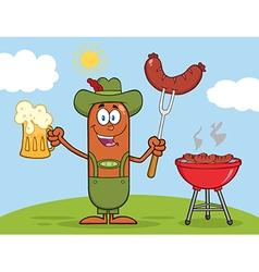 German Oktoberfest Sausage Cartoon vector image vector image