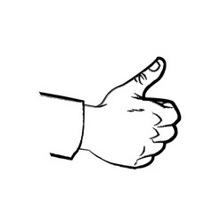 Hand like up thumb expression comic sketch vector