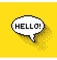 Hello bubble vector