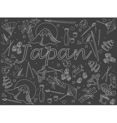 Japan chalk vector