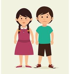 Kids cartoon design vector image