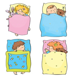 kids sleeping vector image vector image