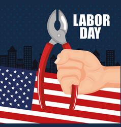 Labor day poster festival national celebration vector