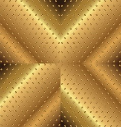 Letter X Background Metal Copper vector image vector image
