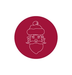 Linear Icon of a Santa Claus Face vector image
