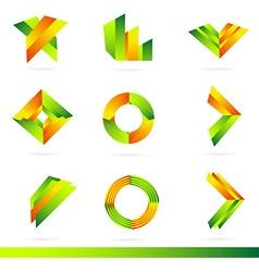 Logo design elements set vector image