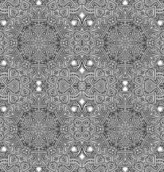 monochrome hand drawn seamless pattern vector image vector image