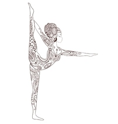 Ornament beautiful card with yoga vector image