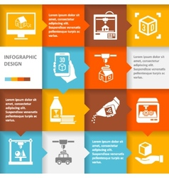 Printer 3d infographic vector
