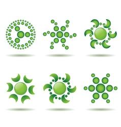 set of green logo design elements vector image