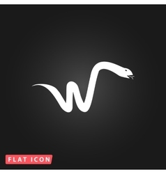 Snake flat icon vector