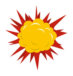 terrible explosion icon isolated vector image