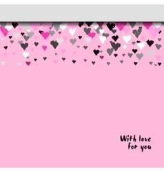 Valentine day design vector image