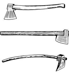 Vintage axe vector image vector image