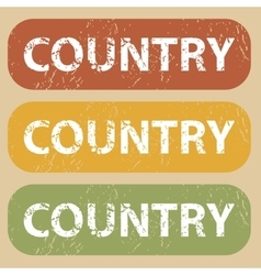 Vintage country stamp set vector