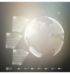 World globe Infographic template for business vector image vector image