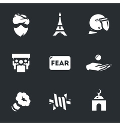 Set of public fear vector