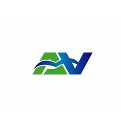 Letter a and v logo vector