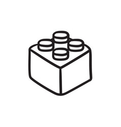 Building block sketch icon vector
