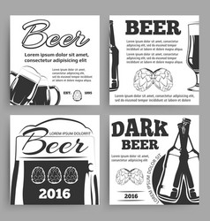 Vintage beer banners template with bottles vector