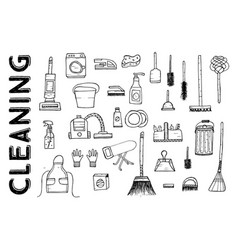 Cleaning tools vector