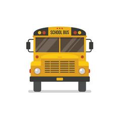 School bus front view vector
