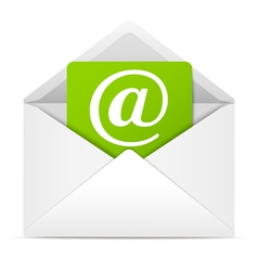 Envelope with paper sheet - concept of email vector image