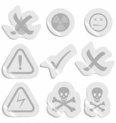 Warning stickers vector