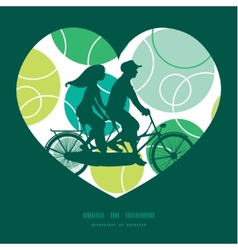 Abstract green circles couple on tandem vector