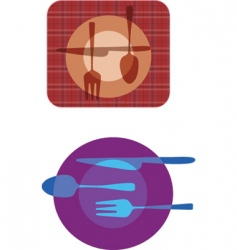 cutlery patterns vector image