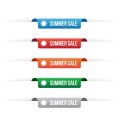 Summer sale paper tag labels vector