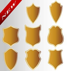 Decor gold collection royal coat packing price emb vector