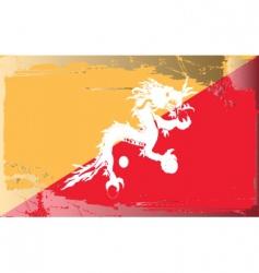 bhutan national flag vector image