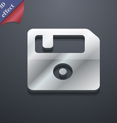 Floppy icon symbol 3d style trendy modern design vector