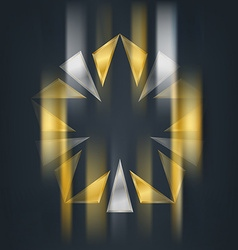 Gold and silver star with blur effect award 3d vector